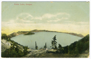 Title (front): Crater Lake, Oregon Postmark: Vale, Oregon, May 30 10 AM 19?9 Stamp: 1 cent Card Number(s): 5517, 164207 Publisher: Unknown, Printed in Germany